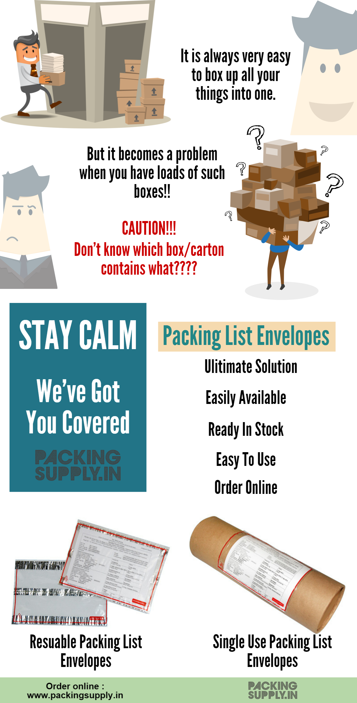 use packing list envelopes and stay calm small business bonfire