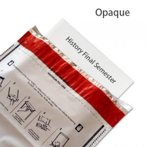 Opaque tamper evident security envelope