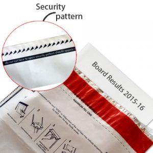 side security pattern in tamper evident envelopes