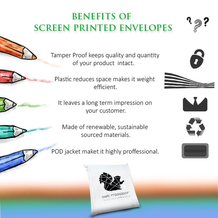 Custom Screen Printed Envelopes & Bags