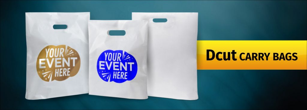 Customized Plain D-cut Retail Carry Bags