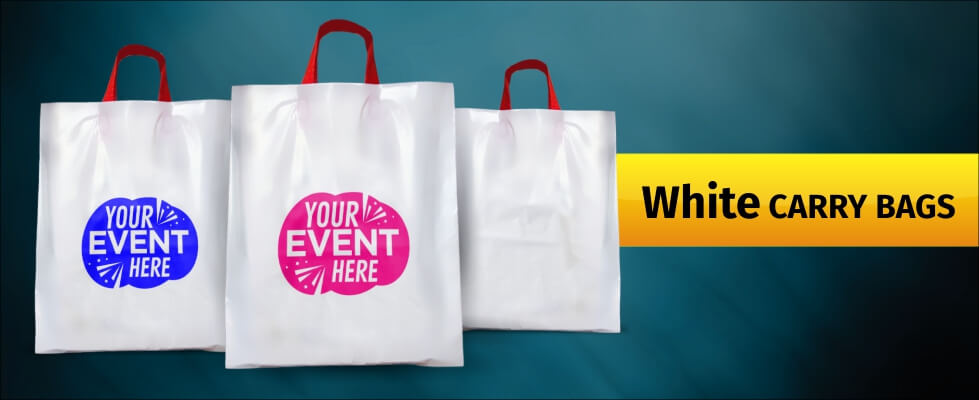 Customized Plain White Shopping Carry Bags
