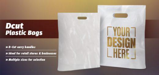 Plastic d cut retail carry bags for exhibition, events & promotion