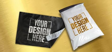 Premium Metallic Ink Printing Poly Bags