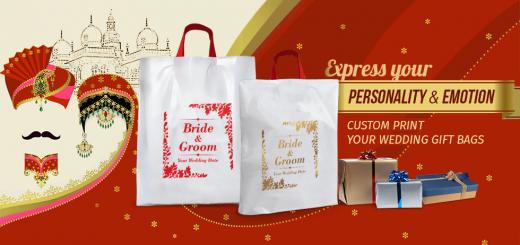 Bride & Groom Name Printed Wedding Bags
