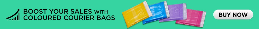 Boost your sales with coloured courier bags