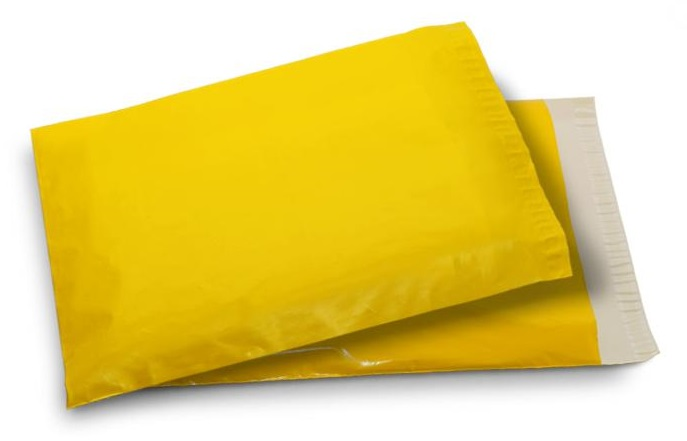 Yellow Color Courier Packaging Bags
