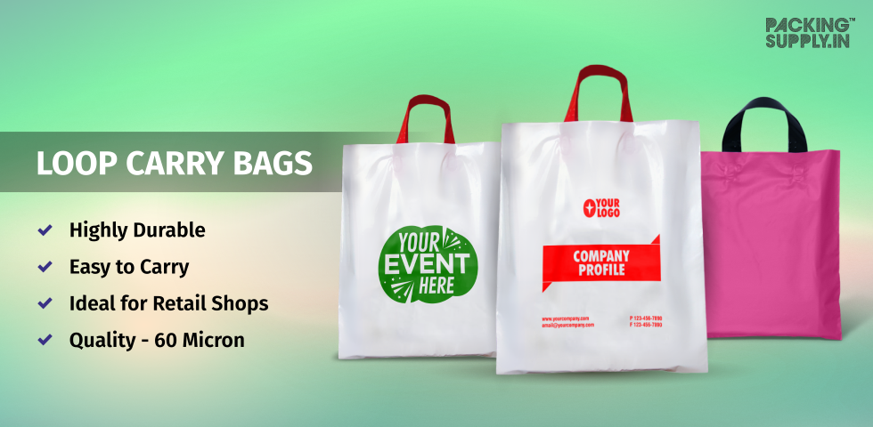Customized Retail Carry Bags For Exhibition & Promotion
